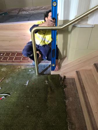 Welding and Installing Brass Handrail